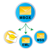 save mbox to eml, pst and msg