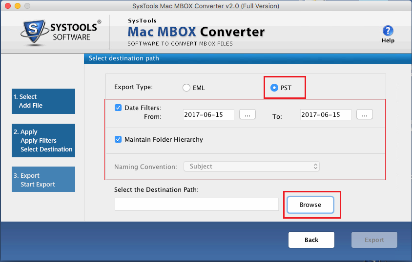 preview attachments and convert mbox to pst