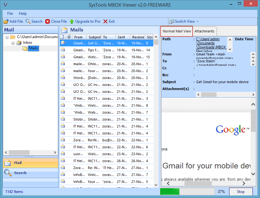 MBOX File Viewer Free Tool to Preview MBOX Emails-Attachments